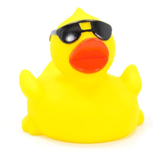 Sunglasses Racer Duck Rubber Duck by Schnabels  | Ducks in the Window®