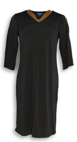 Kelly by Clinton Kelly Dress Sz S Cold Shoulder Black A289816