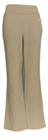 Denim & Co. Women's Sz 4 Reg Smooth Waist Lightly Boot-Cut Jeans Beige A309729