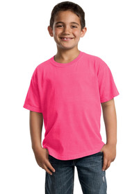 Port & Company Youth Tops L Pigment-Dyed Short Sleeve Tee PC099Y Neon Pink