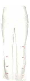 Women with Control Women's Petite Pants MP Tummy Control Pin Tuck White A375602