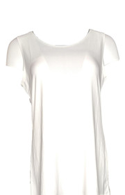 Creation Women's Top Sz M Solid Liquid Knit Scoop Neck Tank White
