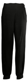 Lisa Rinna Collection Women's Pants Sz XXS Knit Ankle Length Black A309057
