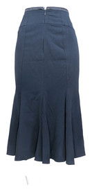 Zac & Rachel Petite Skirt 4P Back Zippered Gored Navy Blue