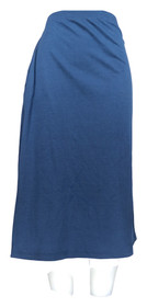 PFI Fashions Inc Skirt Sz M Regular Midi Length Navy Blue