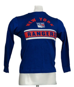 NHL Official Licenced Product Child's Sz 6/7 Long Sleeves T-Shirt Blue R9001