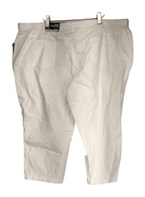 JM Collection Plus Size Pants 24W Twill Straight Leg Bright White Womens PTC