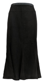 Zac & Rachel Petite Skirt 10P Back Zippered Flared Black