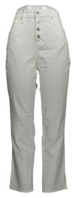 Denim & Co. Women's Jeans Sz 10 Slim Ankle Jeans with Button Fly White A375169