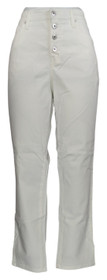 Denim & Co. Women's Jeans Sz 12 Slim Ankle Jeans with Button Fly White