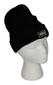 Expressions Sz One Size Beanie with LED Light Knit Black Hat