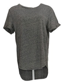 Skinnygirl Jeans Women's Top Sz M Daphne High-Low Tee With Cutout Gray