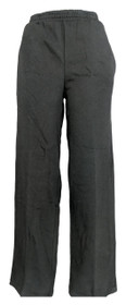 C & K Designs Women's Pants Sz M Skinny Leg Pull On Pocketed Black