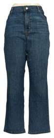 Lee Women's Jeans Sz 14 Short Relaxed Fit Straight-Leg Zip Fly 5-Pocket Blue