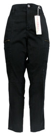 Unionbay Junior's Pants Sz 17 Stretch Twill Skinny Utility W/Zipper Detail Black