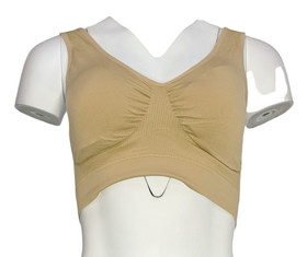 Sample Sz XL One Size Seamless w/ Removable Padding Beige Bra