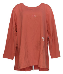 Denim & Co. Women's Petite 3XP Active Petite French Terry Tunic Pink A251140