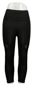 Tracy Anderson for G.I.L.I. Leggings Sz XS Regular Printed Crop Black A354969