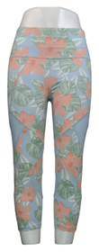 Tracy Anderson For G.I.L.I. Leggings Sz M Regular Printed Crop Blue A354969
