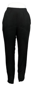 Truth + Style Women's Pants Sz S Jersey Knit Pull-On Jogger Ankle Black A389348