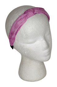 LOGO by Lori Goldstein Sz One Size Printed Headband Pink A393984