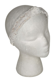 LOGO by Lori Goldstein Sz One Size Lace Headband White A393985