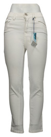 SoftCell by Diane Gilman Women's Jeans Sz 2 Wide-Cuff Cropped White 740967