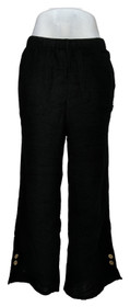 Truth + Style Women's Pants Sz PS Petite Crinkled Woven Pull-On Black A393948