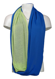 Tashon Infinity Fit Packable Dual Color Scarf Green / Blue