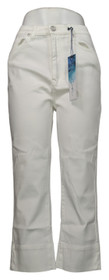 SoftCell by Diane Gilman Women's Pants Sz 10 Wide-Cuff Cropped White 740967