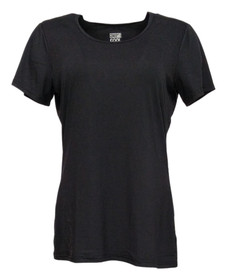 32 Degrees Cool Women's Top Sz L Soft Hand Feel And Stretch Black