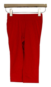 Slimming Options Leggings Sz XS Elastic Waistband Pull-on Bright Red A408576