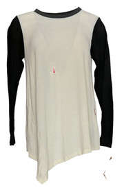 Serena Williams Size M Long Sleeve Color Blocked Ivory Sweater Womens