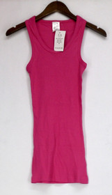 I/A Icon Apparel Top Sz M Basic Scoop Neck Ribbed Tank Pink Womens