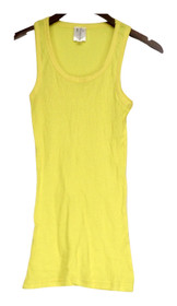 I/A Icon Apparel Top Sz M Basic Scoop Neck Ribbed Tank Yellow Womens