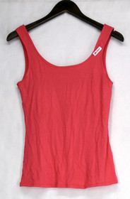 Curations Size S Double Scoop Neck Solid Bra Tank Top Coral Womens 341-388