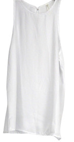 Lyss Loo Top Sz S At First Crush Crew Neck Tank White Womens