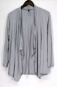 Rags Couture Sweater Sz S Draped Cardigas Light Silver Gray Womens