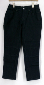 Serena Williams Jeans Sz 6 Cropped Moto Jegging Dark Blue Womens 401-957