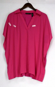 INC Plus Size Top 0X Batwinged Sleeve Collared Pi?ata Pink Womens