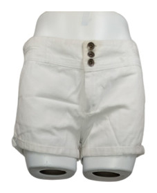 dollhouse Jr Size Shorts 7 Cotton Front Fly Double Button Shorts White