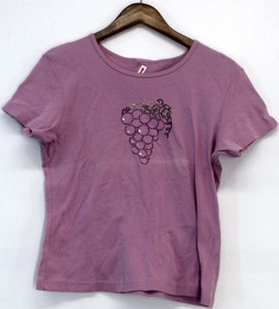Style & Co. Size S Short Sleeve Embellished Tee Top Light Pink Womens