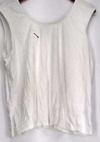 Curations Top Size XL Scoop Neck Tank Top White Womens 473-375