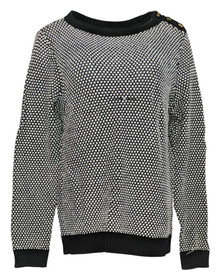 Charter Club Plus Size Sweater 0X Long Sleeved Crewneck White Womens
