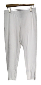 Slimming Options Leggings XS Elastic Waistband w/ Side Zipper White A417363