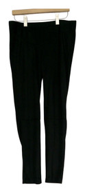 Carson Kressley Leggings Sz S Waist Detail Ponte Knit Style Black Womens A413693