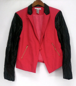 WD.NY Size Blazer L w/ Button Closure & Front Pockets Pink Womens A405066