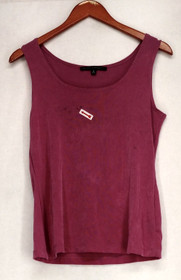 Affinity For Knits Top Sz S Essentials Solid Scoop Neck Basic Tank Pink A408922