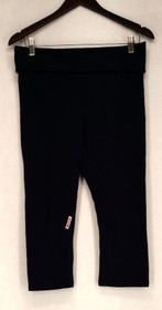 Marc Womens York Leggings Sz M Comfort Waistband Cropped Navy Blue 478-869
