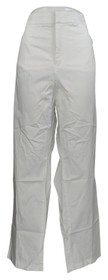 JM Collection Plus Size Pants 24 Twill Knit Straight-Leg Bright White Womens